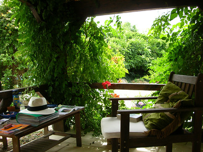 The outside area was perfect to sit in whatever the weather. We watched an amazing thunderstorm from here one night