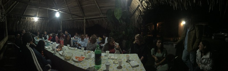 party with neighbors family in the Ranchito.  Lilly is to the right of Cindy.