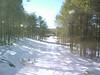 Driveway after snowfall