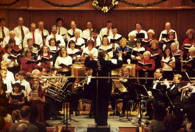 2000 Christmas Concert, with chancel choir, children's choir and brass.
