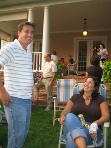 John Pusateri and Heather relaxing at a Mosaic Worship Arts party, 9/2006.