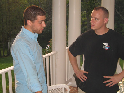 Ryan shares a deep thought with Mike, 9/2006.