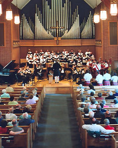 "Brass, Choir and Bagpipes concert series, 2004 Part of the ""Sundays at Central"" Concert Series"