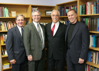 Four CPC Pastors: (L->R) George Antonakos, John Schmidt, Pat Hartsock, Ron Scates. (Pat and Ron were former CPC pastors. George, John & Laura are our current pastors) photo taken 9/2/2006 at the funeral for Pastor Smoot.