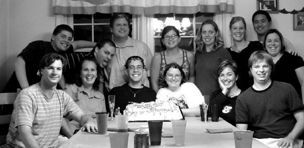 a Young Adults group party, 2004
