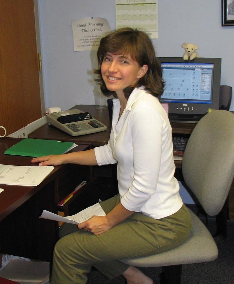 Margie Baker Finance Assistant photo taken 10/2006