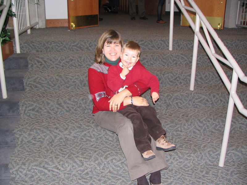 Pastor Laura Crihfield & her son Parish Associate photo taken 2005