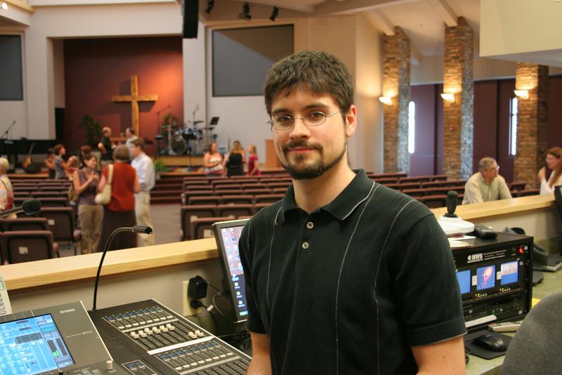 Gideon Breidegam Technical Arts Coordinator photo taken 8/2008