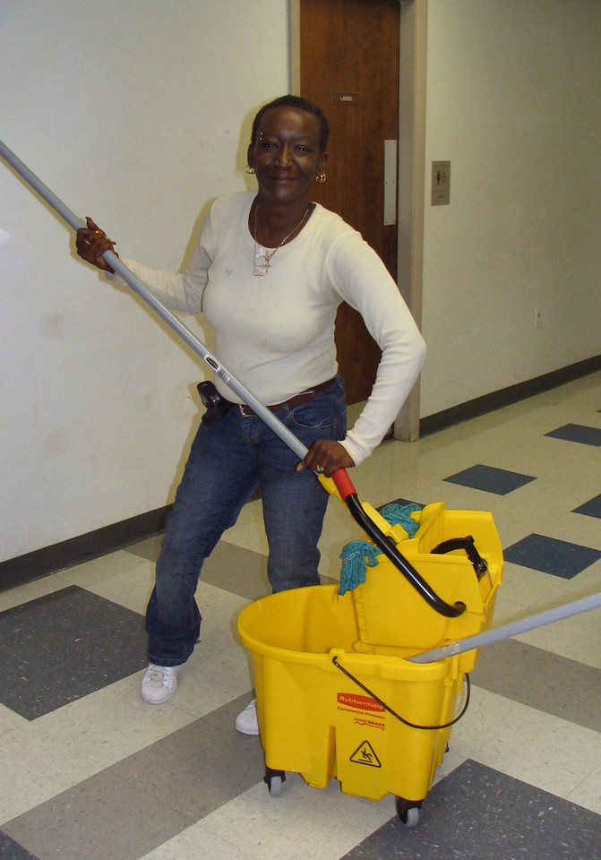 Barbara Woods Senior Custodian photo taken 10/2006