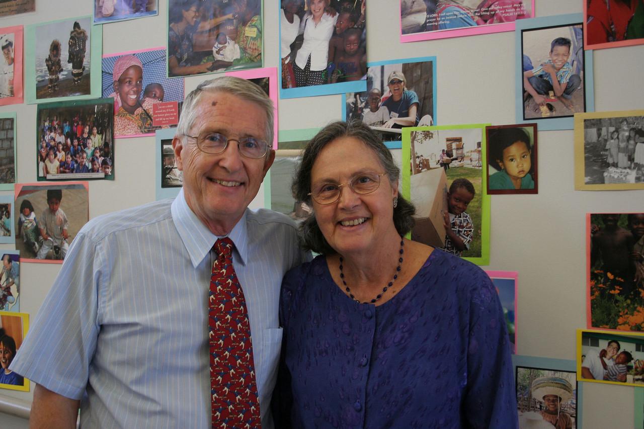 Phyllis and Pieter DeSmit Outeach & Missions Coordinators photo taken 9/2005