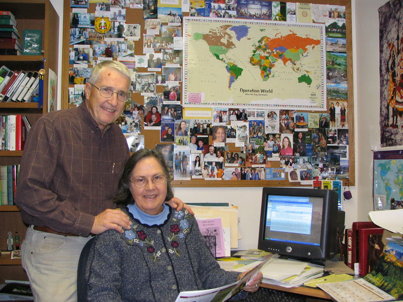 Phyllis and Pieter DeSmit Missions Coordinators photo taken 11/2005