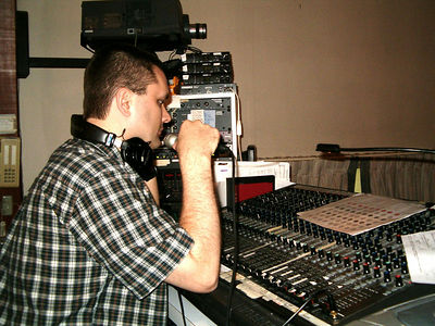 jeff running sanctuary sound during a worship service