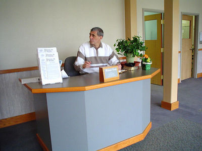 Get your first help as you come in at our Welcome center...