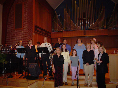 Part of the worship team