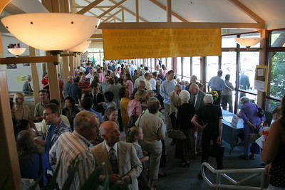 People mingling in the concourse between services. 9/2006.