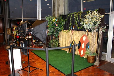 An African themed corporate party photo booth shoot held at the Boulevard Brewing Company for Roger's Health.