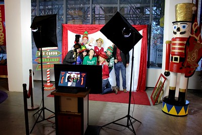 Corporate Christmas Party at Andrews McMeel Publishing downtown Kansas City.  https://thelookingglassphotobooths.com/