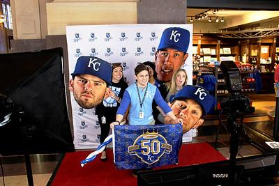 Kansas City Royals Fans At Union Station