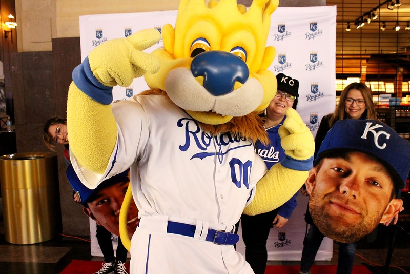 The KC Royals Sluggerrr In Our Photo Booth.  https://thelookingglassphotobooths.com/