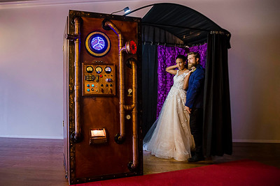 Our Rustic Wedding Steampunk Photo Booth.  https://thelookingglassphotobooths.com/