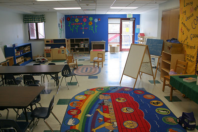 One of the classrooms used for children's ministries on Sunday and for preschool during the week.