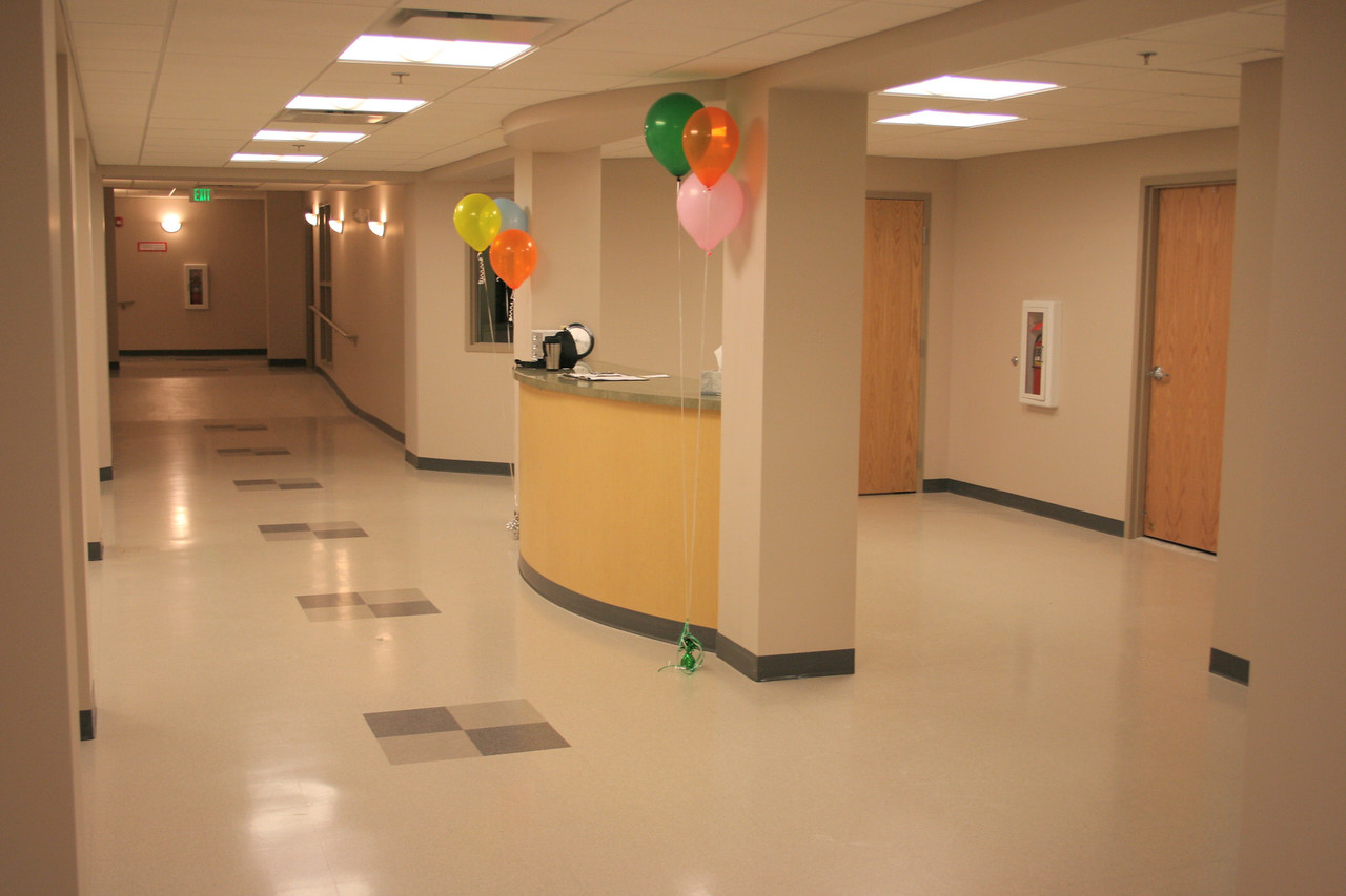12/16/2007: new infant & toddler nurseries area, hallway and welcome desk