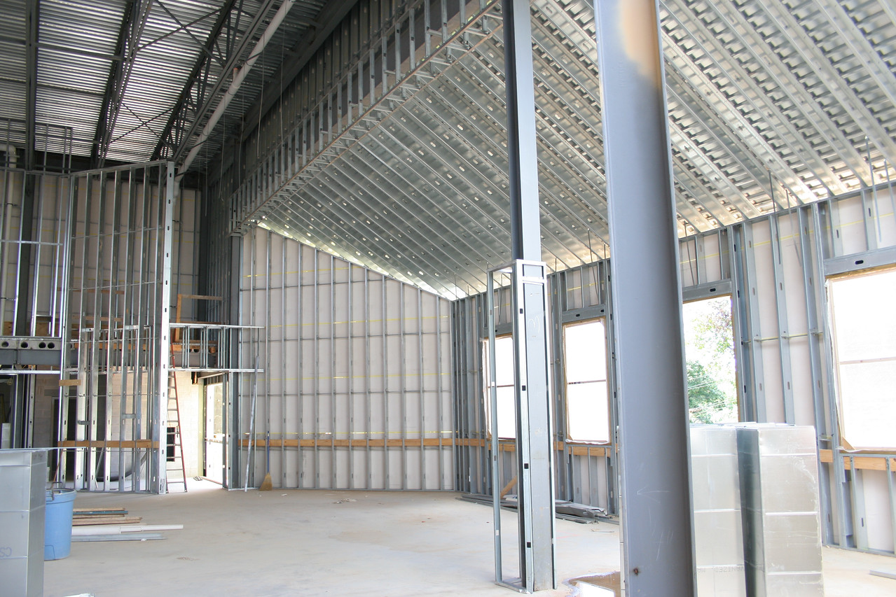 9/16/2007: worship center, inside.  View of the west wall and south west corner.