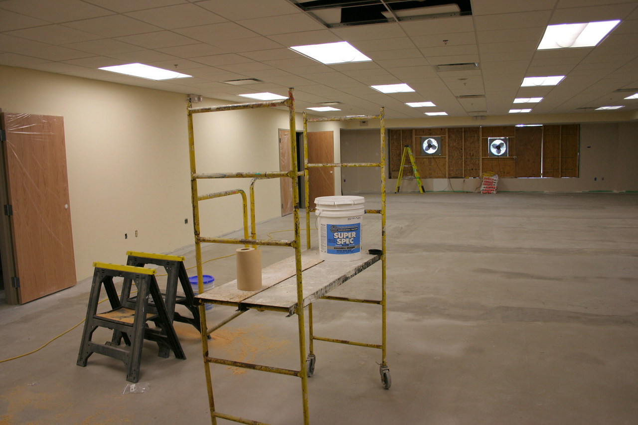 8/17/2007: courtyard portion - the new large upstairs room for adult education, etc