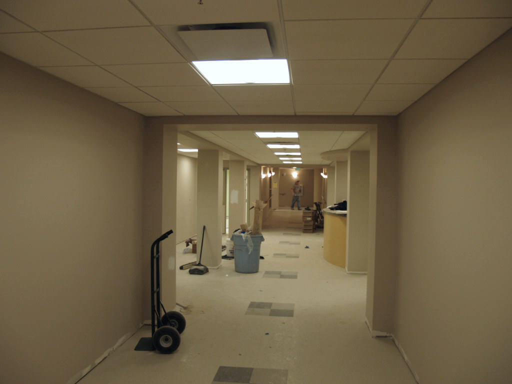 12/6/2007: working on the hallway in the new infant & toddler nurseries area