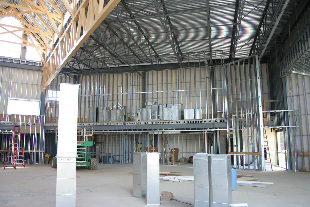 9/16/2007: worship center, inside.  View facing south.