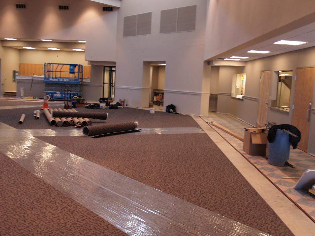 1/30/2008: carpet installation