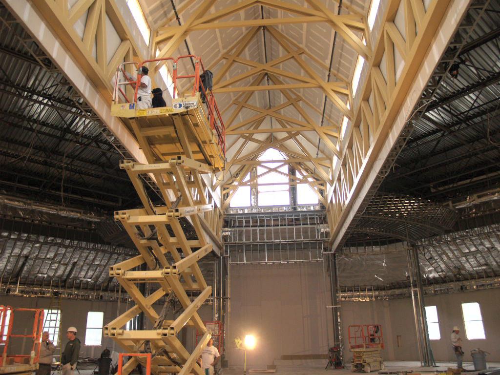 10/25/2007: worship center ceiling work