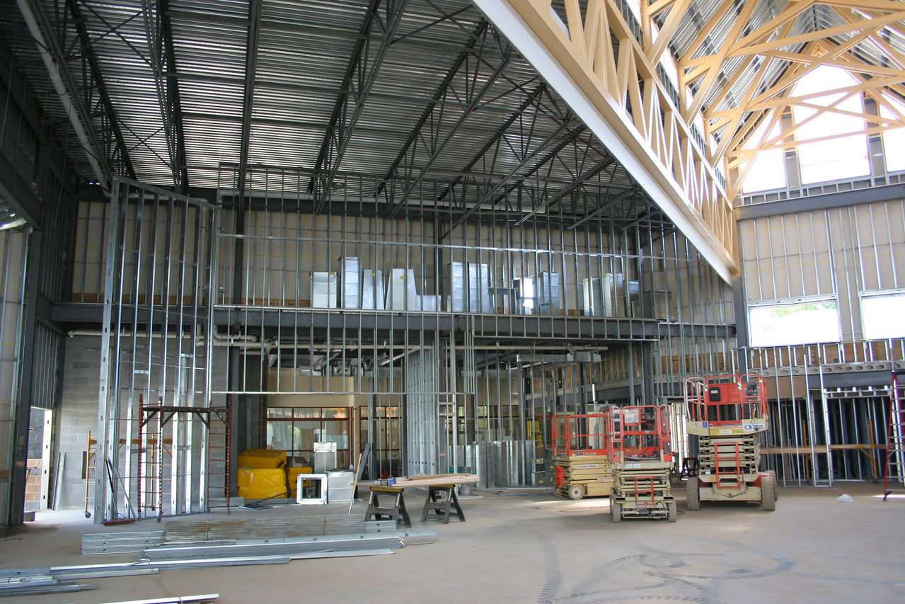 9/16/2007: worship center, inside.  View facing the east wall.