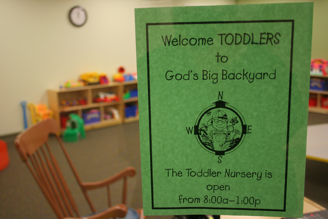12/16/2007: Welcome Toddlers to God's Big Backyard, and a new Toddler nursery room!