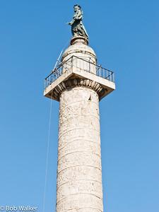 Trajan's Column in the Roman Forum http://en.wikipedia.org/wiki/Trajan%27s_Column