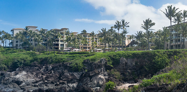 Backside of Kapalua Four Seasons. We were in the far left side building