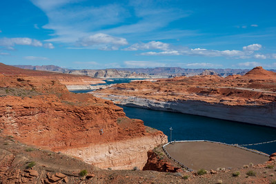 Lake Powell behind the Glen Canyon Dam