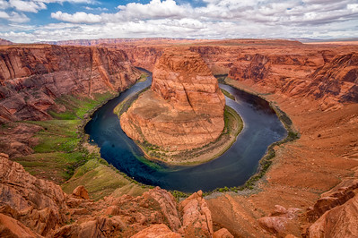 Fabulous Horseshoe Bend - what this does not show is 1) hoards of people around and 2) wind blowing 20+ mph