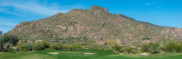 Hillside (and homes) surrounding The Boulders Golf Resort