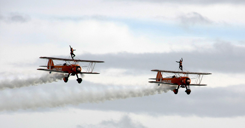 Twin Wingwalkers by Don Burns.  3rd