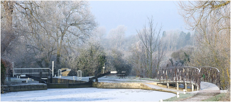 Winters Morning On The Stort by John Brooks. 1st