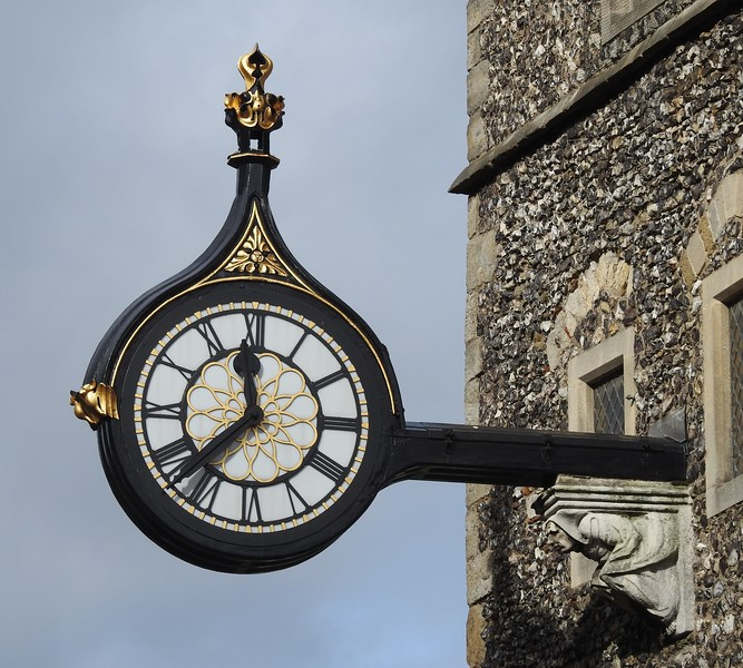 ST GEORGE'S TOWER CLOCK, CANTERBURY by Michael Yarrow.
