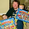 The boys and their advent calendars 2010