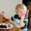 Lets just say Madox LOVES chocolate cake.