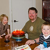 A nice big chocolate cake for Ryan the Birthday Boy! Happy Birthday my wonderful husband :)