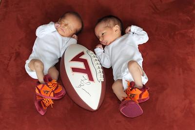 Newborn Football Picture