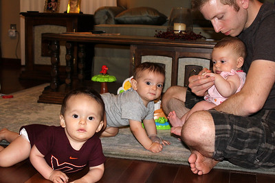 Liam, Jack, Mila & Uncle Christopher