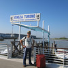 At the water taxi stand at Venice airport.