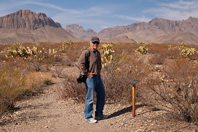 Charlie on Chihuahuan Desert Nature Trail