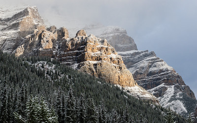 Mountains in the mist - Banff NP